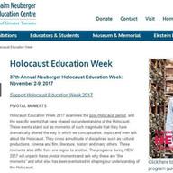 Holocaust Education Week - 2017