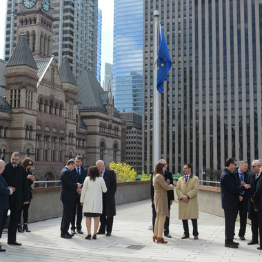 Europe Day Flag raising - Toronto City Hall