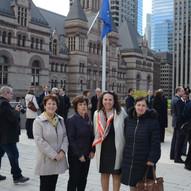 Europe Day Flag raising - Toronto City Hall