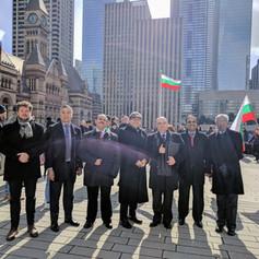 Церемония по издигане на националното знаме на Република България в Торонто - Трети март 2017 г.