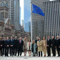 Europe Day - Flag raising - Toronto City Hall