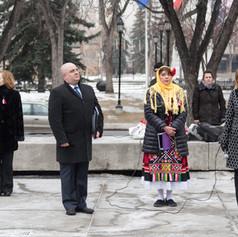 Церемония по издигане на националното знаме на Република България в Калгари - Трети март 2017 г.