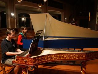 Concert à 2 clavecins ce lundi de Pâques à l'abbaye de la Rochette
