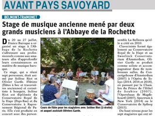 Compte rendu du Dauphiné de Chambéry