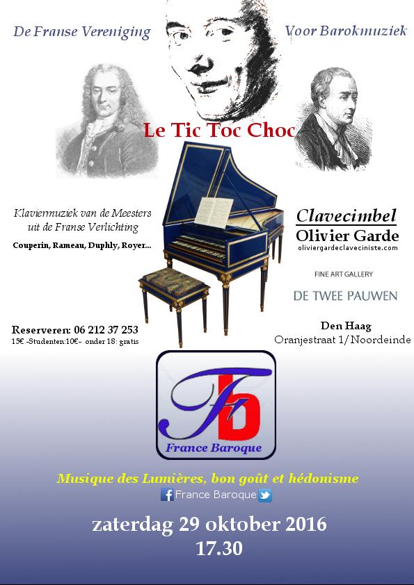 """Prochain concert à la Haye le 29 Octobre chez nos partenaires """"de Twee Pauwen"""""""