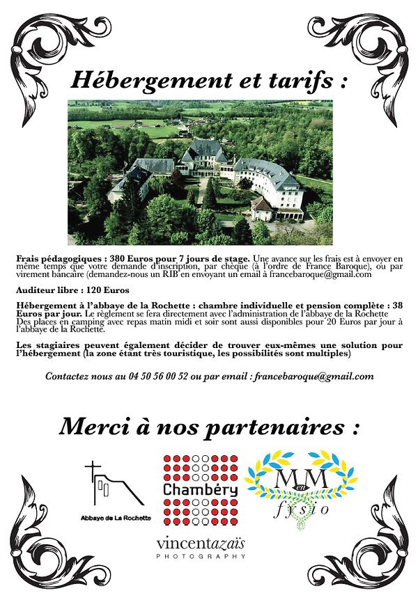 Le stage est hébergé à l'abbaye de la Rochette, à Belmont Tramonet du 28 juillet au 4 aout.
