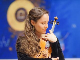 Emilie Mory : professeur de violon pour notre stage de musique ancienne en Savoie, juillet 2021.
