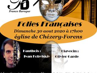 Réservez vos places pour le concert à Chézery-Forens : Ivan Kobylskiy au hautbois et Olivier Garde