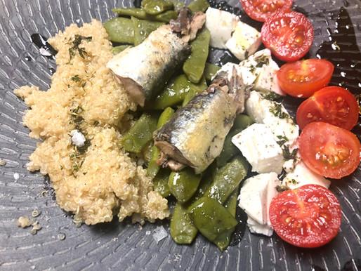 Un templado de judías, tomates... ¡y sardinas!