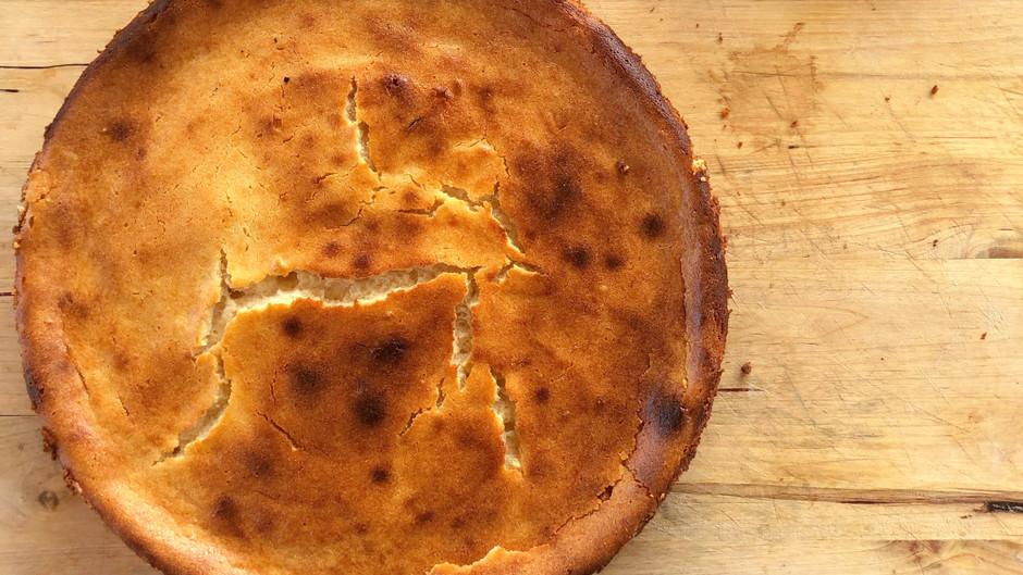 Quesos con papaya en tarta