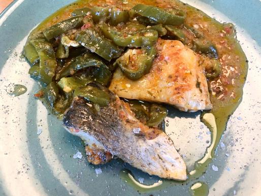 Bacalao verde picante