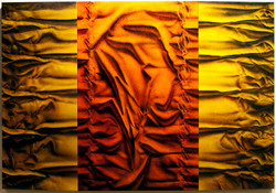 'Tangerine Tri-Folds' | 42 x 66
