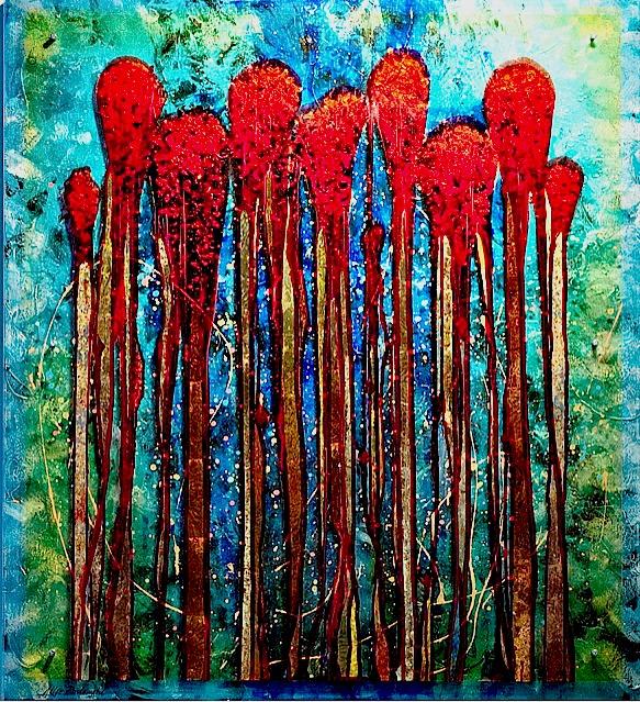'Poppies' | 42 x 47