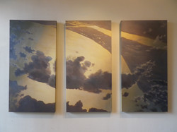 "'Golden Sky' Triptych | 24"" x 48""ea."