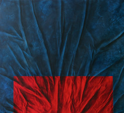 'Blue w/Red' | 72 x 78