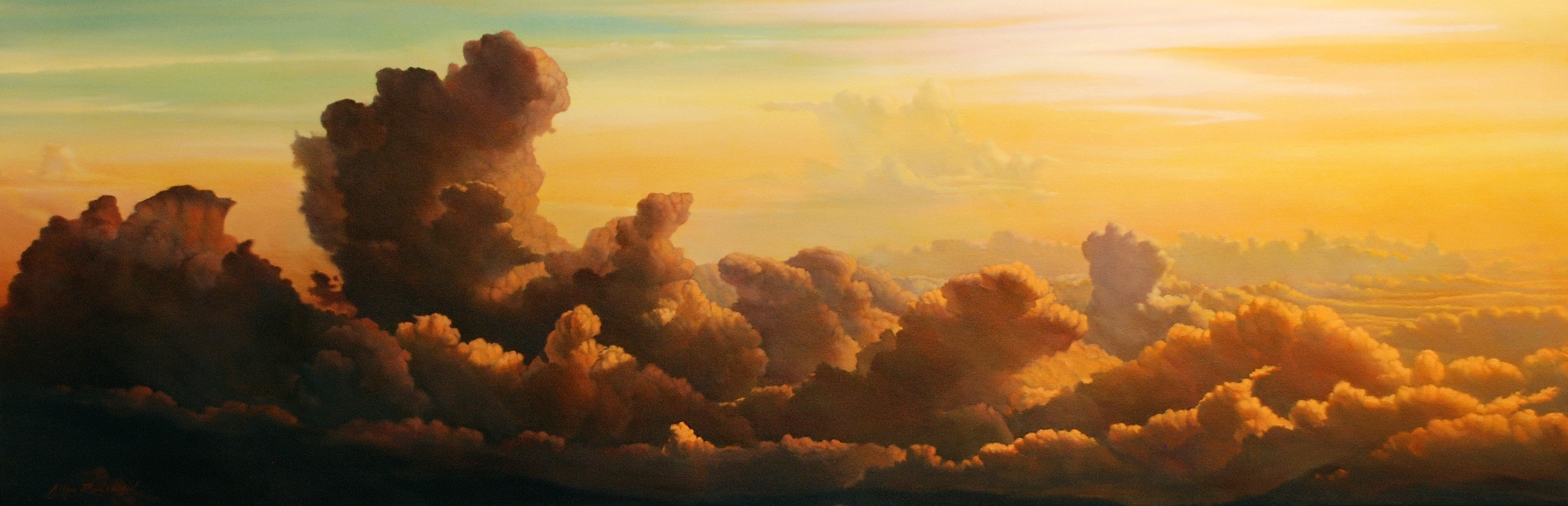 "'Morning Sky' | 24"" x 48"" 