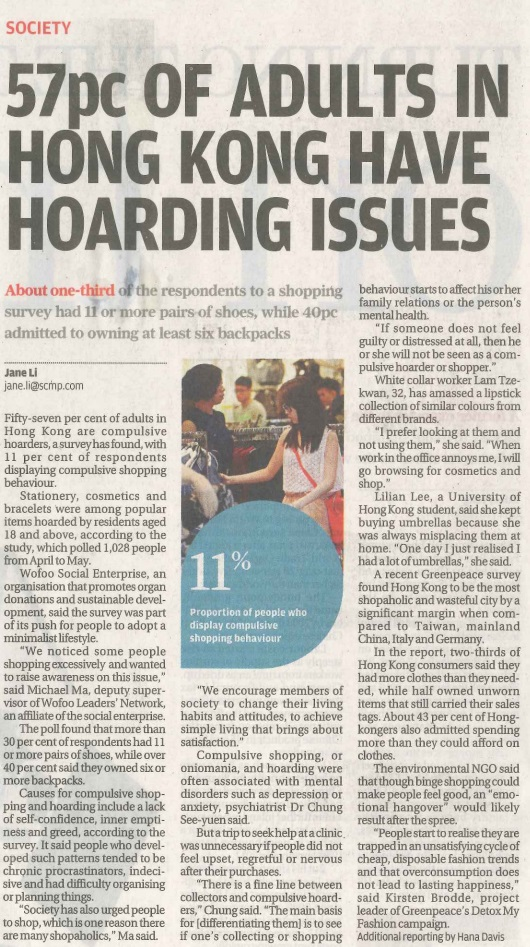 57pc of Hong Kong adults are compulsive hoarder - SCMP
