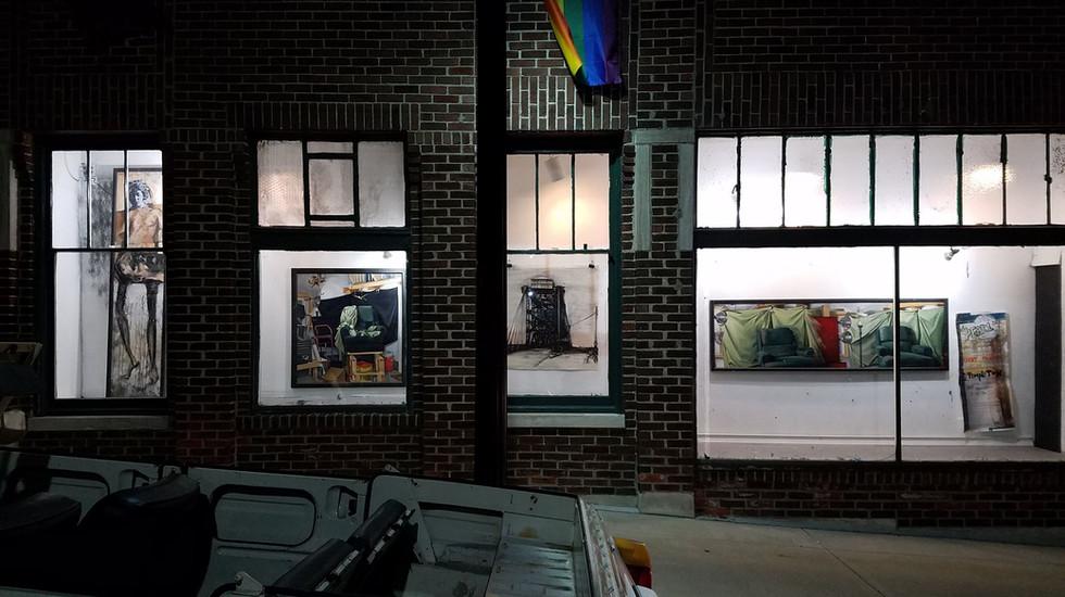 public art display, 18th and Wyandotte, KCMO