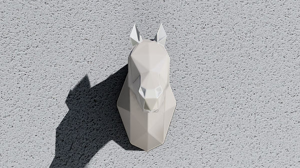 WHITE HORSE DE METAL