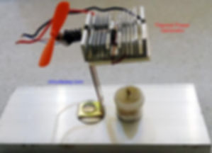 Electric current generator using heat, Thermoelectric Peltier
