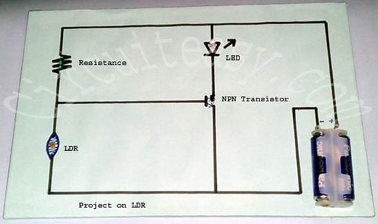 Simple LDR project using Transistor
