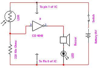 Electronic Eye Circuit Diagram