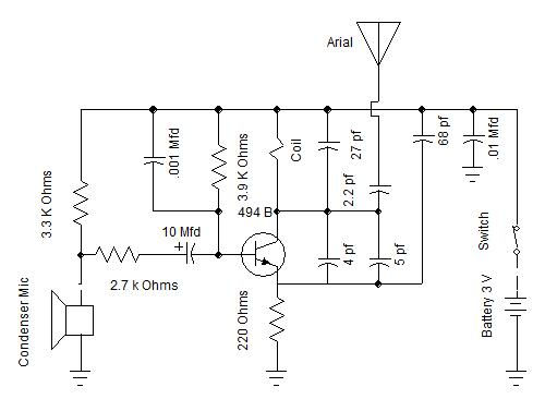 FM Transmitter Circuit Diagram