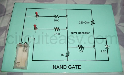 NAND Gate Project, CBSE class 12 Project, using transistor