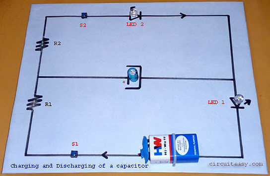 Project on Charging and Discharging of a capacitor. Class 12 CBSE