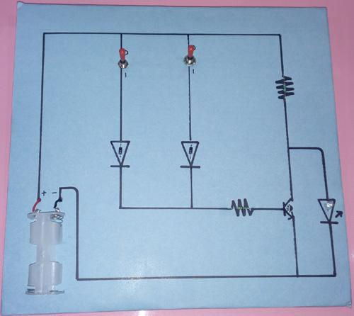 NOR Gate Project, Class 12 CBSE Project, Using Diode, Transistor