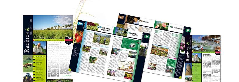 creation journal entreprise reunion 12 pages pour La Coopérative des Avirons réalisé par le Studio Oxygène agence de pub à la Réunion