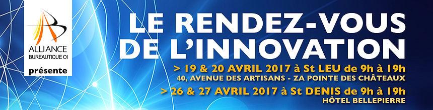 creation bannière web reunion pour ALLIANCE BUREAUTIQUE réalisée par le Studio Oxygène agence de pub à la Réunion