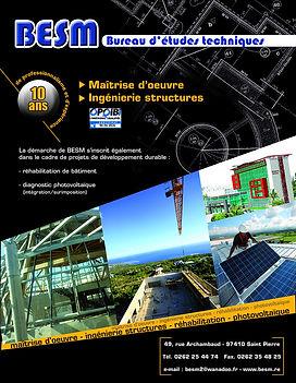 creation annonce presse reunion pour BESM réalisée par le Studio Oxygène agence de pub à la Réunion