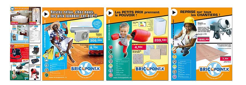 creation prospectus reunion pour Brico Point K réalisé par le Studio Oxygène agence de pub à la Réunion