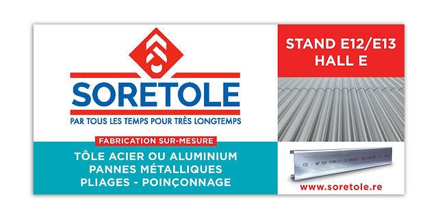 creation bannière web reunion pour SORETOLE réalisée par le Studio Oxygène agence de pub à la Réunion