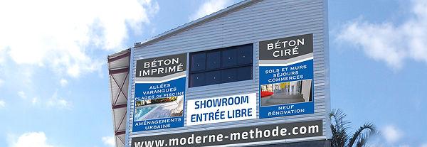 creation bâches reunion pour Moderne Méthode réalisée par le Studio Oxygène agence de pub à la Réunion