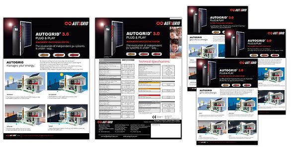 creation fiche produit reunion pour Autogrid réalisée par le Studio Oxygène agence de pub à la Réunion