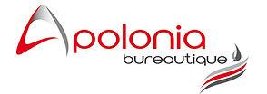 creation logo reunion pour Apolonia Bureautique réalisé par le Studio Oxygène agence de pub graphiste à la Réunion