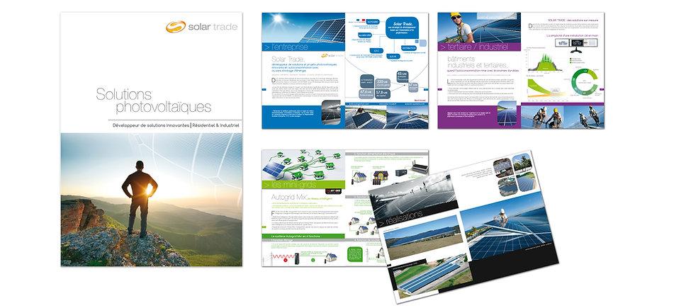 creation plaquette reunion 24 pages pour Solar Trade réalisée par le Studio Oxygène agence de pub à la Réunion