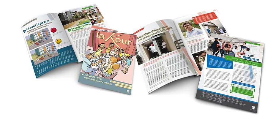 creation journal entreprise reunion 8 pages pour La Semader réalisé par le Studio Oxygène agence de pub à la Réunion