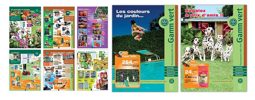 creation prospectus reunion pour Gamm Vert réalisé par le Studio Oxygène agence de pub à la Réunion