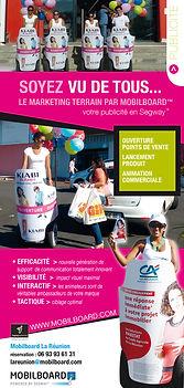 flyer pour Mobilboard réalisé par le Studio Oxygène agence de pub à la Réunion