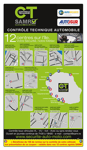 creation encart annuaire reunion pour SAMR réalisée par le Studio Oxygène agence de pub à la Réunion