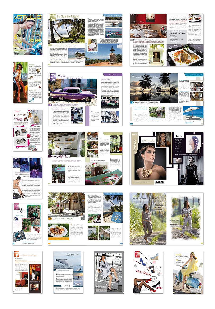 creation magazine reunion Style réalisé par le Studio Oxygène agence de pub à la Réunion
