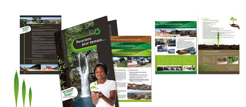 creation plaquette reunion 24 pages pour recyclage de l'Ouest réalisée par le Studio Oxygène agence de pub à la Réunion