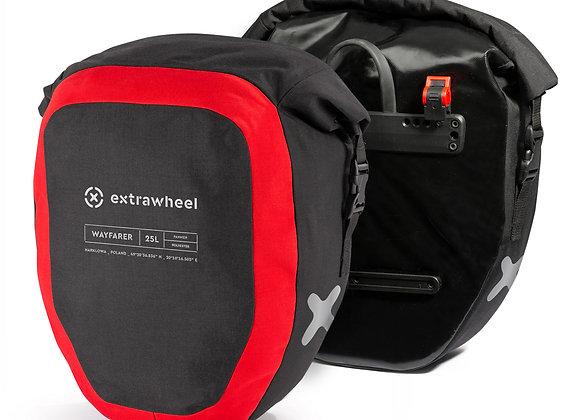 EXTRAWHEEL SAKWY TYLNE WAYFARER BLACK/RED 50L POLYESTER