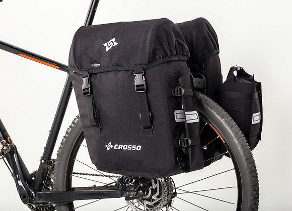 Sakwy rowerowe zestaw na tył Crosso EXPERT BIG 66l Click System