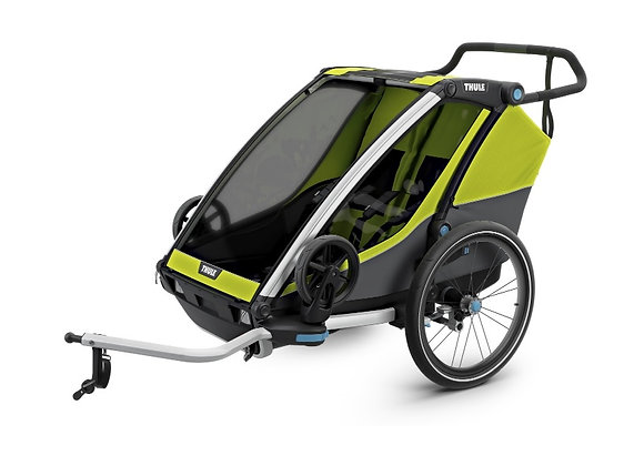 THULE Chariot Cab 2 - oliwkowy/szary + 2 ROGALE