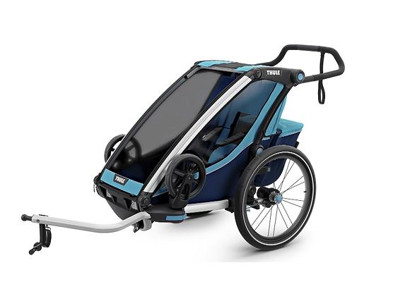 THULE Chariot Cross 1, przyczepka rowerowa dla dziecka - niebieski/granatowy