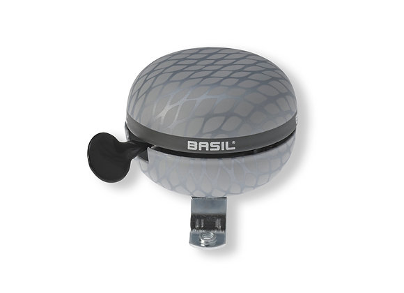 BASIL NOIR DZWONEK BELL, 60mm Ø, silver metallic
